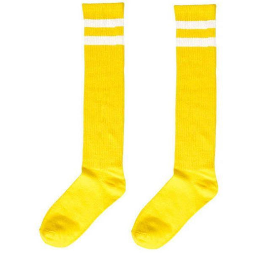 Amscan Spirit Yellow Stripe Athletic Knee-High Socks