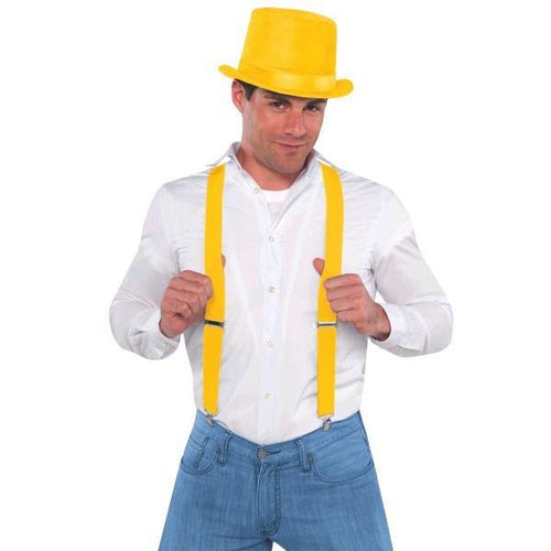 Amscan Spirit Yellow Suspenders