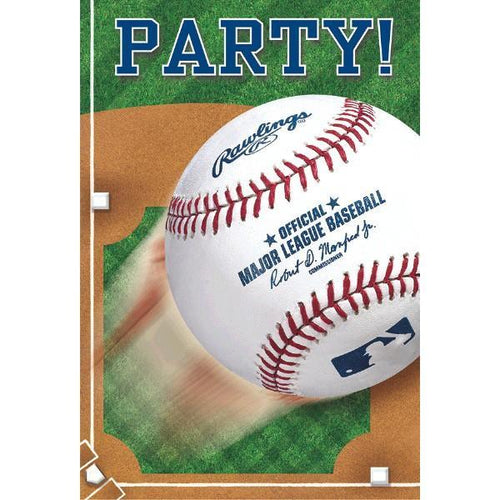 Amscan Sports Rawlings Baseball Invitations 8ct
