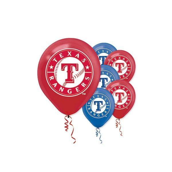 Amscan Sports Texas Rangers Balloons 6ct
