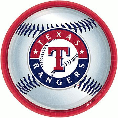 Amscan Sports Texas Rangers Lunch Plates 18ct