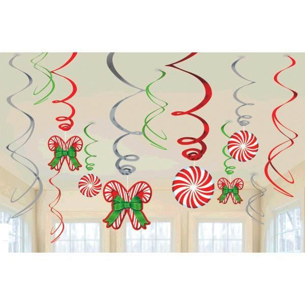Amscan Staging Candy Cane Swirl Hanging Decor