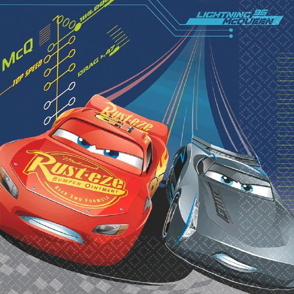 Amscan Staging Cars 3 Lunch Napkins 16ct