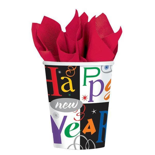 Amscan Staging Cups, 9 oz. Festive New Year