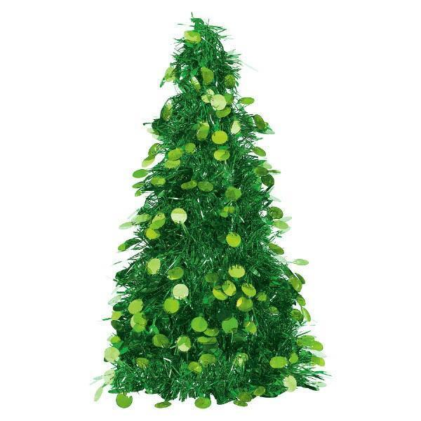 Amscan Staging Green Tinsel Christmas Tree -