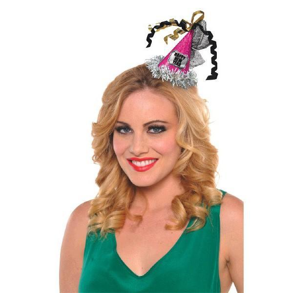 Amscan Staging Happy New Year Cone Hat Hair C
