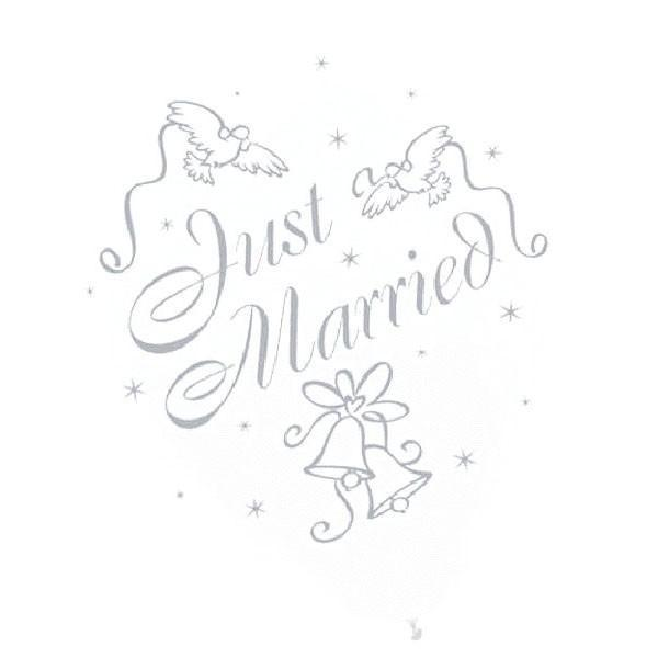 Amscan Staging Just Married Balloons 15ct