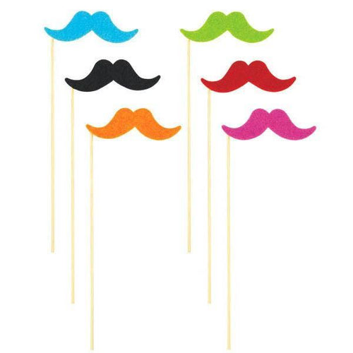 Amscan Staging Moustache On A Stick Multi Pac