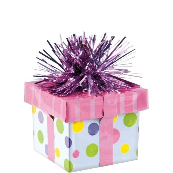 Amscan Staging Pink Gift Box Balloon Weight