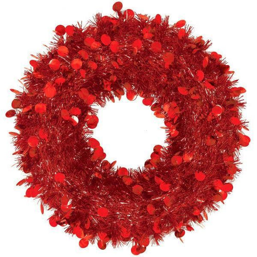 Amscan Staging Red Jumbo Wreath 17""