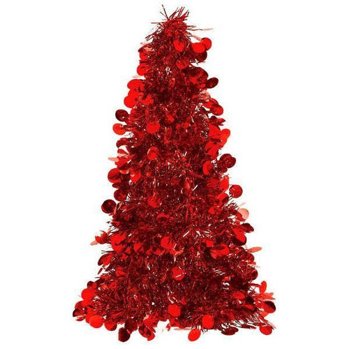 Amscan Staging Red Tinsel Christmas Tree - 10