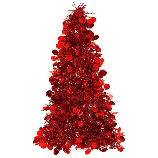Tinsel Christmas Tree.3d Red Tinsel Christmas Tree