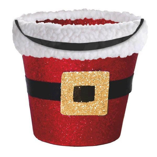 Amscan Staging Santa Glitter Bucket w/Cello