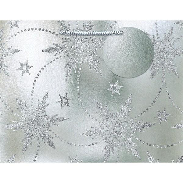 Amscan Staging Silver Snowflake Gift Bag