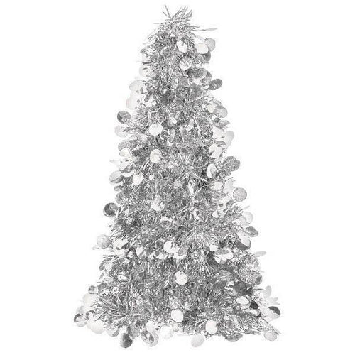 Amscan Staging Silver Tinsel Christmas Tree -