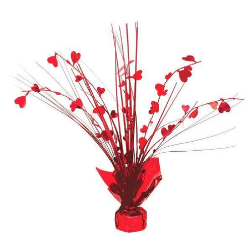 AMSCAN Valentines Heart Foil Spray Centerpiece