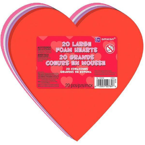 AMSCAN Valentines Large Craft Hearts