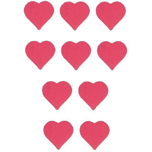AMSCAN Valentines Red Heart Paper Cutouts 10ct