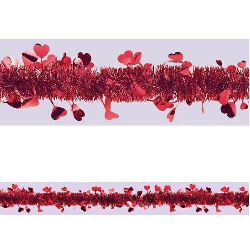 AMSCAN Valentines Valentine's Day Tinsel Garland 25ft