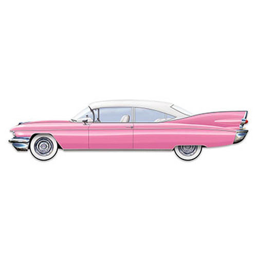 Biestle Company 50s 50s Pink Cruisin' Car Cutout