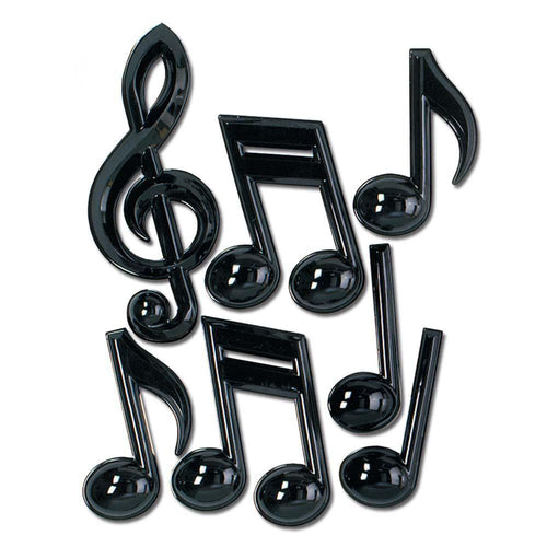 Biestle Company 50s Black Musical Notes 13in