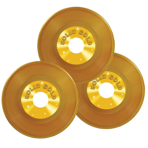 Biestle Company 50s Gold Plastic Records 3pc