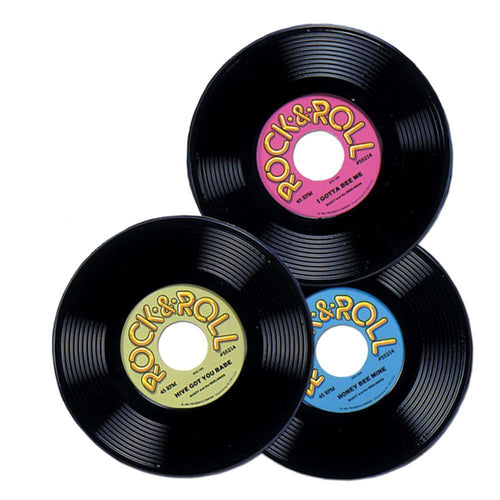 "Biestle Company 50s Plastic 9"" Records 3pc"