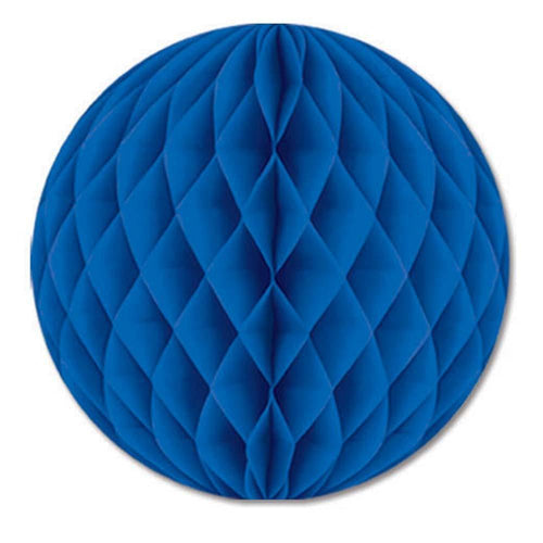 Biestle Company Decorations Blue Tissue Ball 12in