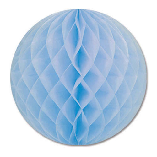Biestle Company Decorations Light Blue Tissue Ball 12in