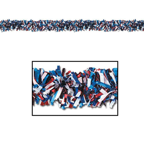 Biestle Company Decorations Red, White & Blue Metallic Festooning Garland