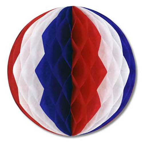 Biestle Company Decorations Red, White & Blue Tissue Ball 12""