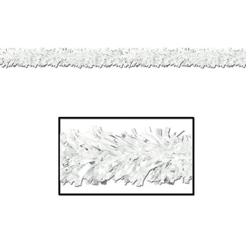Biestle Company Decorations White Metallic Festooning Garland 15ft