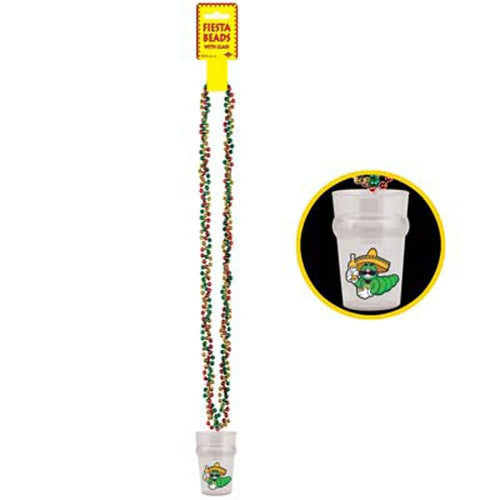 Biestle Company Fiesta Fiesta Bead Necklace with Shot Glass