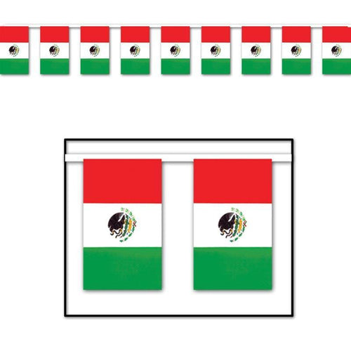Biestle Company Fiesta Mexican Flag Banner