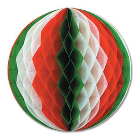 "Biestle Company Fiesta Red, White & Green 19"" Tissue Ball"