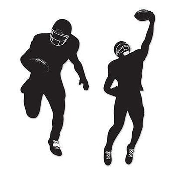 Biestle Company Football Football Silhouettes 2pc