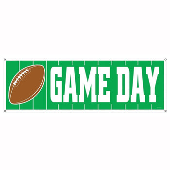 Biestle Company Football Game Day Football Sign Banner