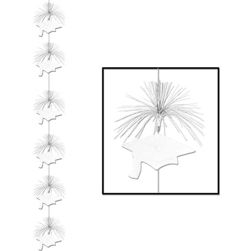 Biestle Company Graduation White Graduation Cap Firework Stringer Decoration