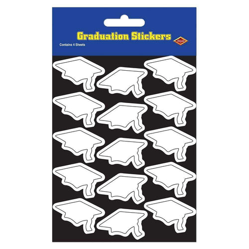 Biestle Company Graduation White Graduation Cap Stickers 60ct