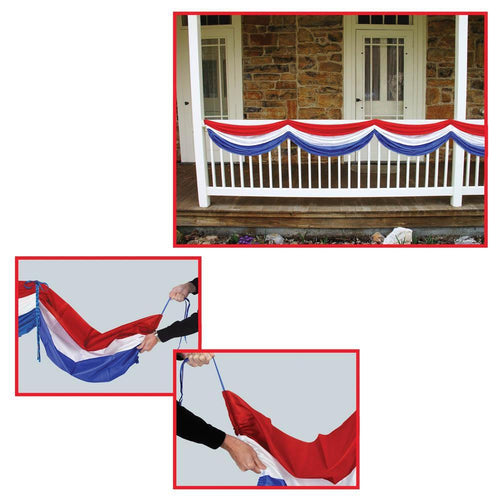 Biestle Company Patriotic Patriotic Fabric Bunting 70 Inches