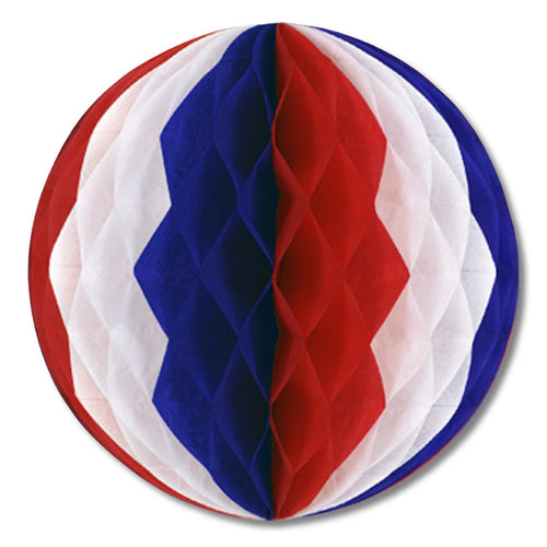 "Biestle Company Patriotic Red, White & Blue 12"" Tissue Ball"