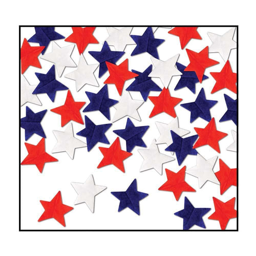 Biestle Company Patriotic Red, White & Blue Tissue Star Confetti