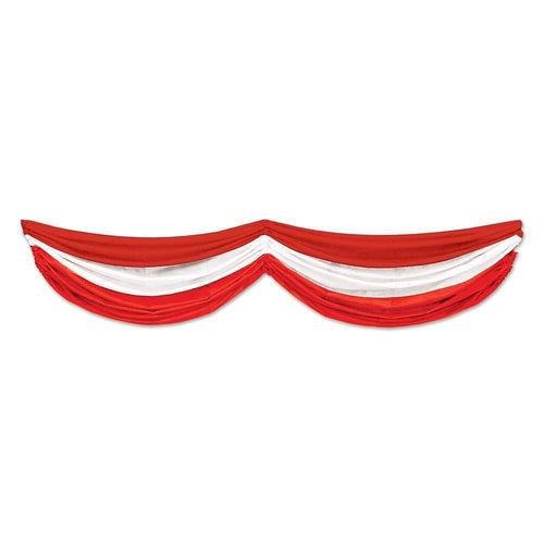 Biestle Company Patriotic Red & White Fabric Bunting 70 Inches
