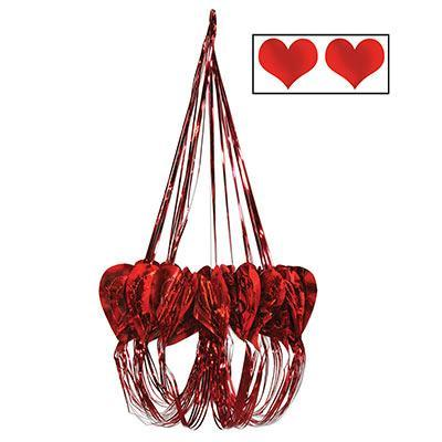 Biestle Company Valentines Red Heart Chandelier 35""