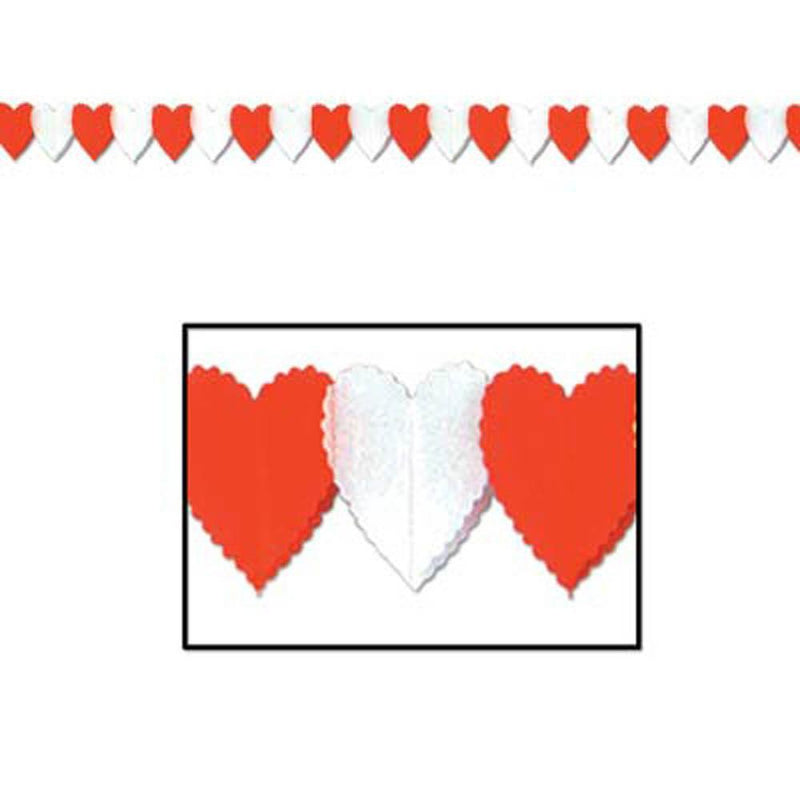 Biestle Company Valentines Red & White Heart Garland