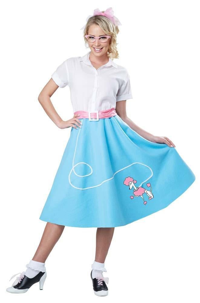California Costumes Costumes Adult 50s Blue Poodle Skirt