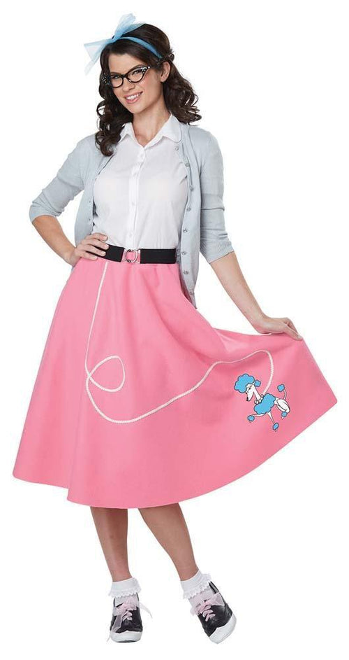 California Costumes Costumes Adult 50s Pink Poodle Skirt