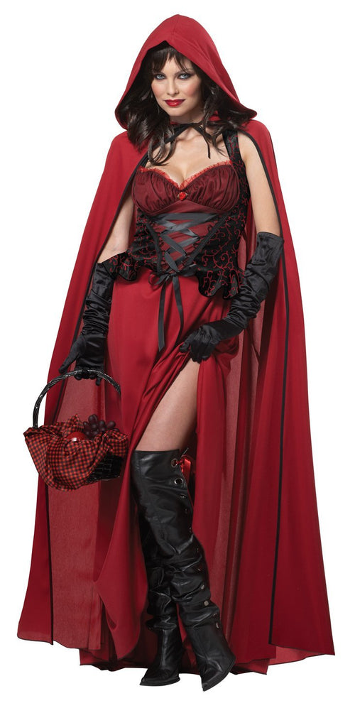California Costumes Costumes Adult Dark Red Riding Hood Costume