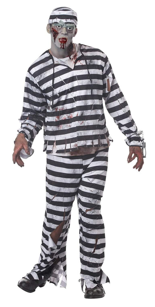 California Costumes Costumes Adult Jailbird Costume
