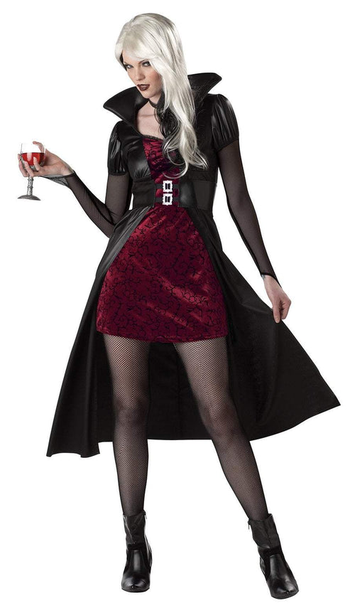 California Costumes Costumes BLACK/BURGUNDY / LARGE Women's Blood Thirsty Beauty Vampire Costume